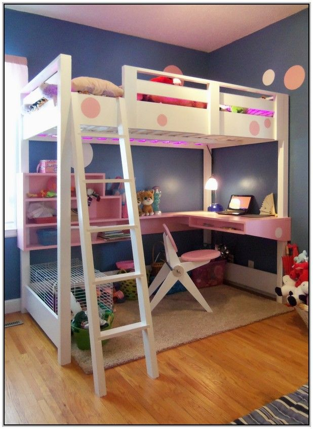 Queen Loft Bed With Desk Underneath Loft Bed Plans Loft Bunk Beds Diy Loft Bed