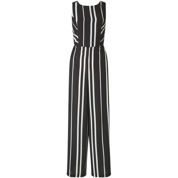 50cc9e2aa14 Miss Selfridge Strappy Striped Jumpsuit (475 NOK) ❤ liked on Polyvore  featuring jumpsuits