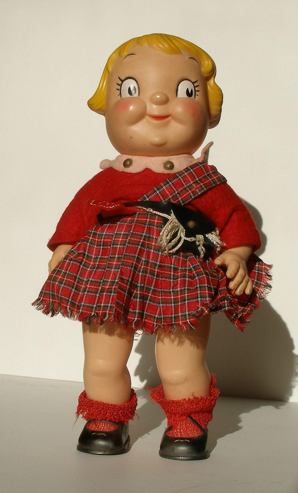 Vintage 1960's Campbells Soup Kid Girl Doll Scottish ...