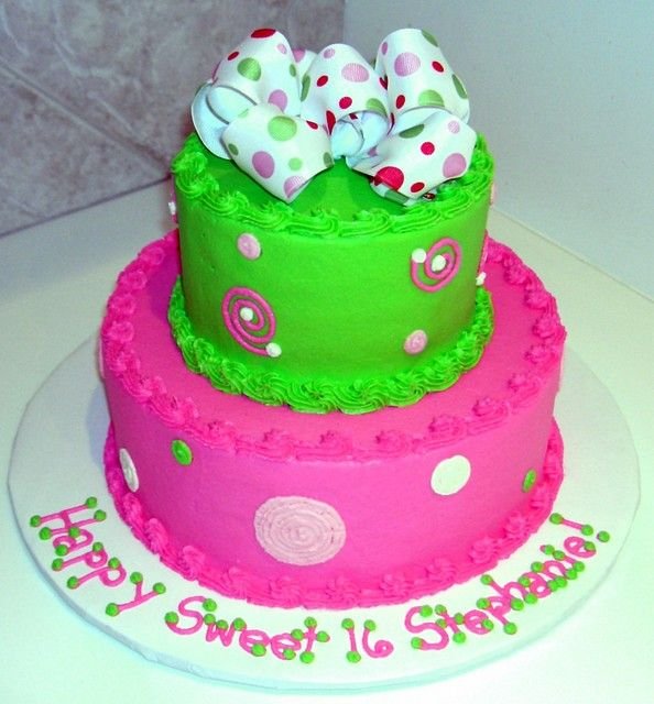 Pink And Green Cakes Google Search Teen Girl Cakes Pinterest