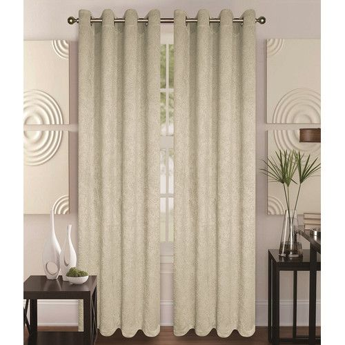 Glory Home Design Milano Curtain Panel Set Of 2 Check