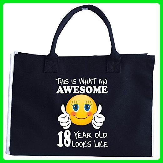 Emoji Birthday 18th Presents Woman 18 Year Old Gift