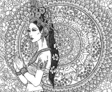 The Art Of Katrina Pallon Moon Blossoms Mandala Coloring Books Colour Pencil Shading Animal Coloring Pages