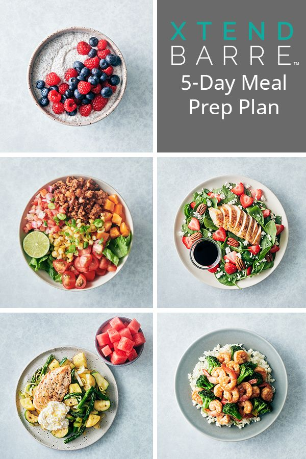 Make healthy eating easier with this 5-day Xtend Barre meal prep plan! These recipes are based on the foods Andrea Rogers loves and are the perfect compliment to the Xtend Barre workouts so you can reach your goals faster. #xtendbarre #mealprep #mealplan #mealplanning #openfit #mealprepplans