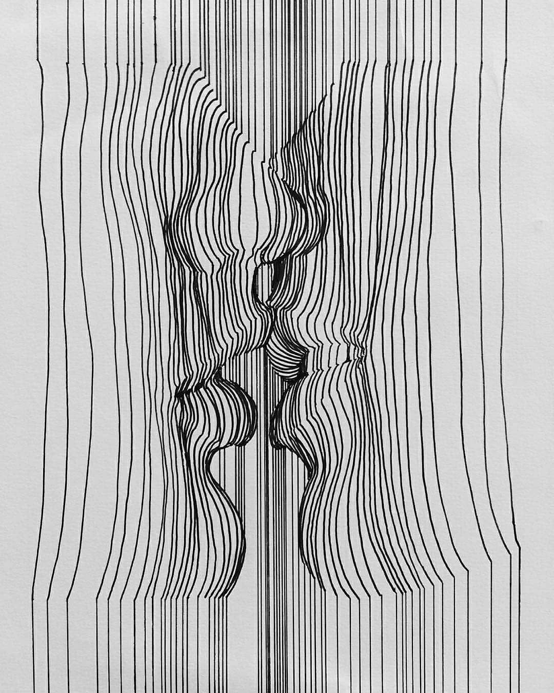 рисунки из линий карандашом толстые и тонкие коомменты