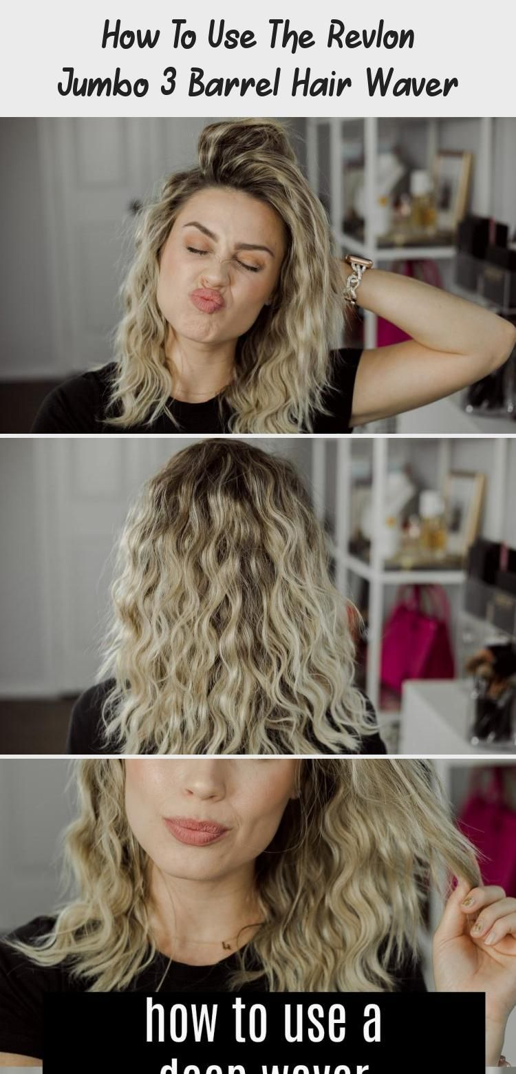 How To Use The Revlon Jumbo 3 Barrel Hair Waver Hair Care In 2020 Hair Waver Beachy Waves Hair Hair Waver Iron