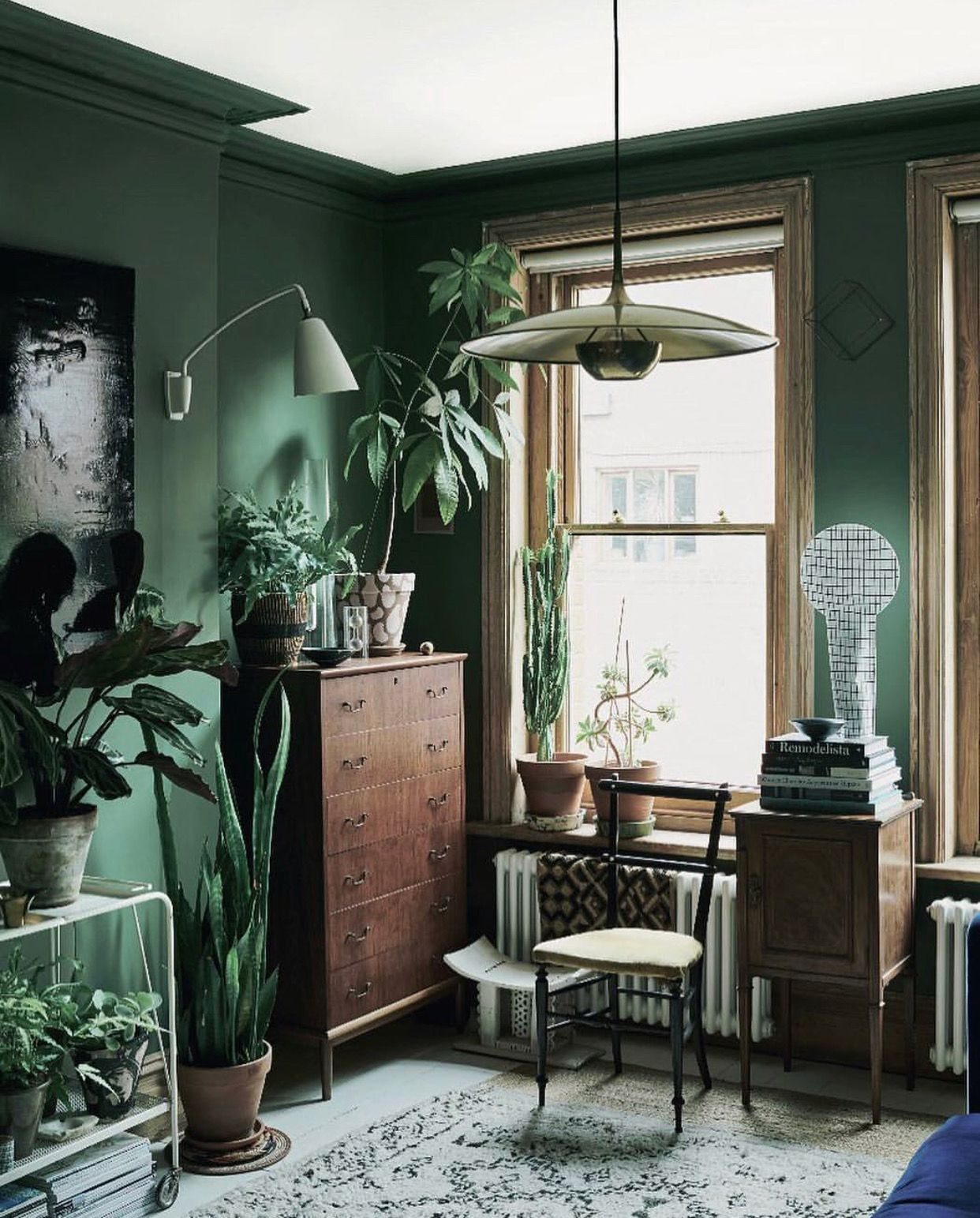 jungalow color & style | Home inspo | Living room green ...