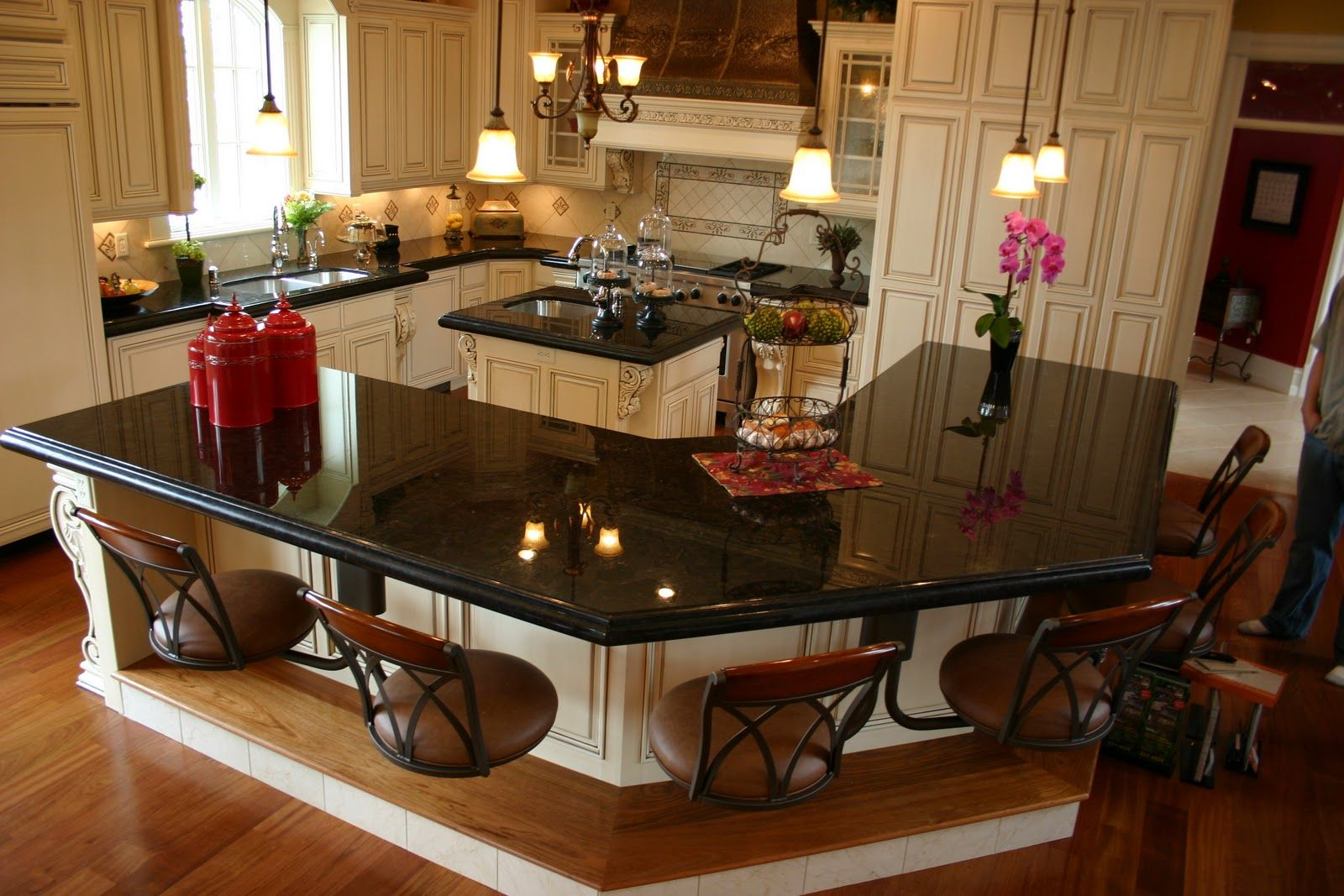 Absolute Black Granite Kitchen Custom Kitchen Island Kitchen