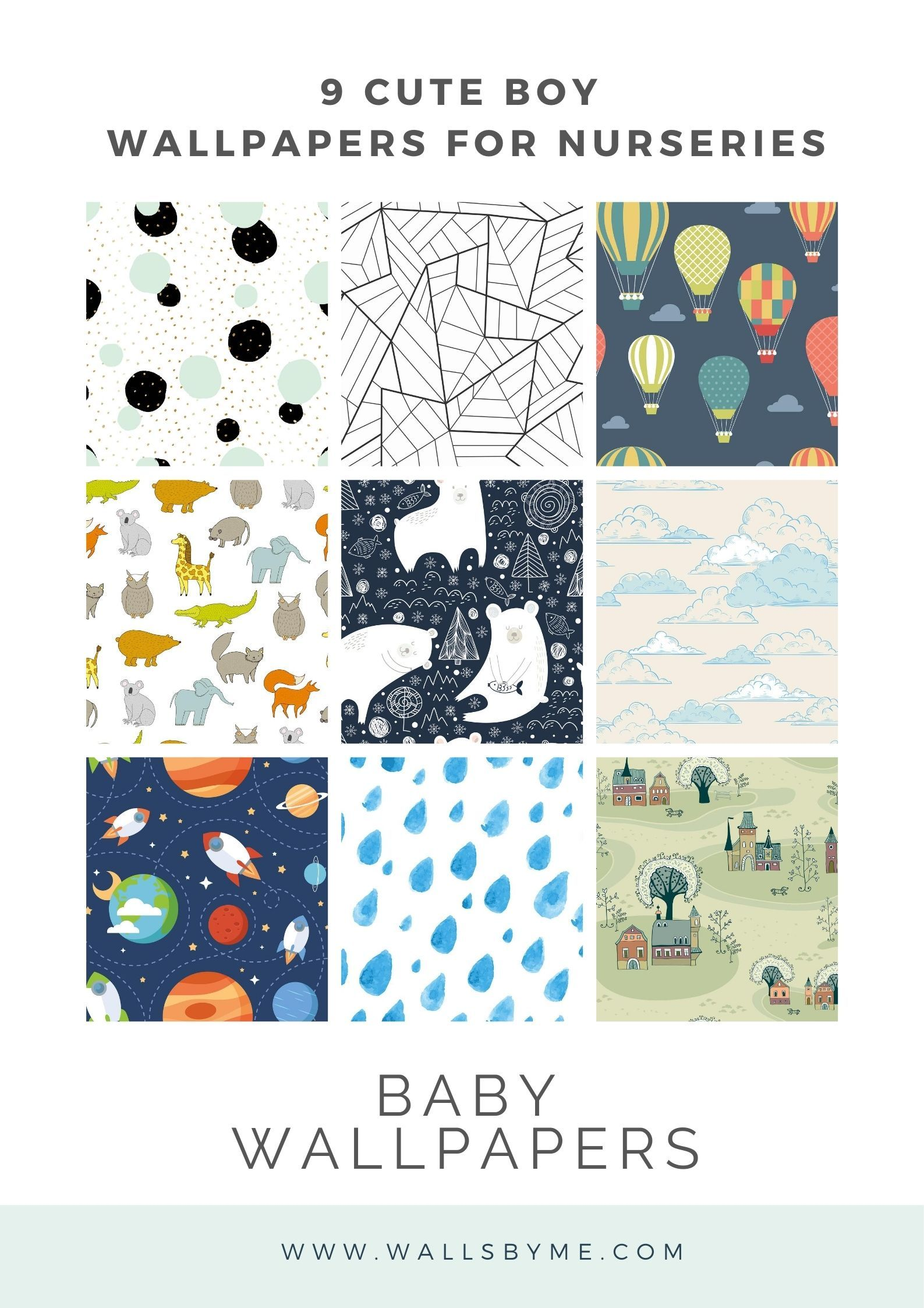 9 Cute Boy Wallpapers For Nurseries Baby Room Ideas Modern Nursery Cute Boy Wallpaper Nursery Wallpaper Boys Wallpaper