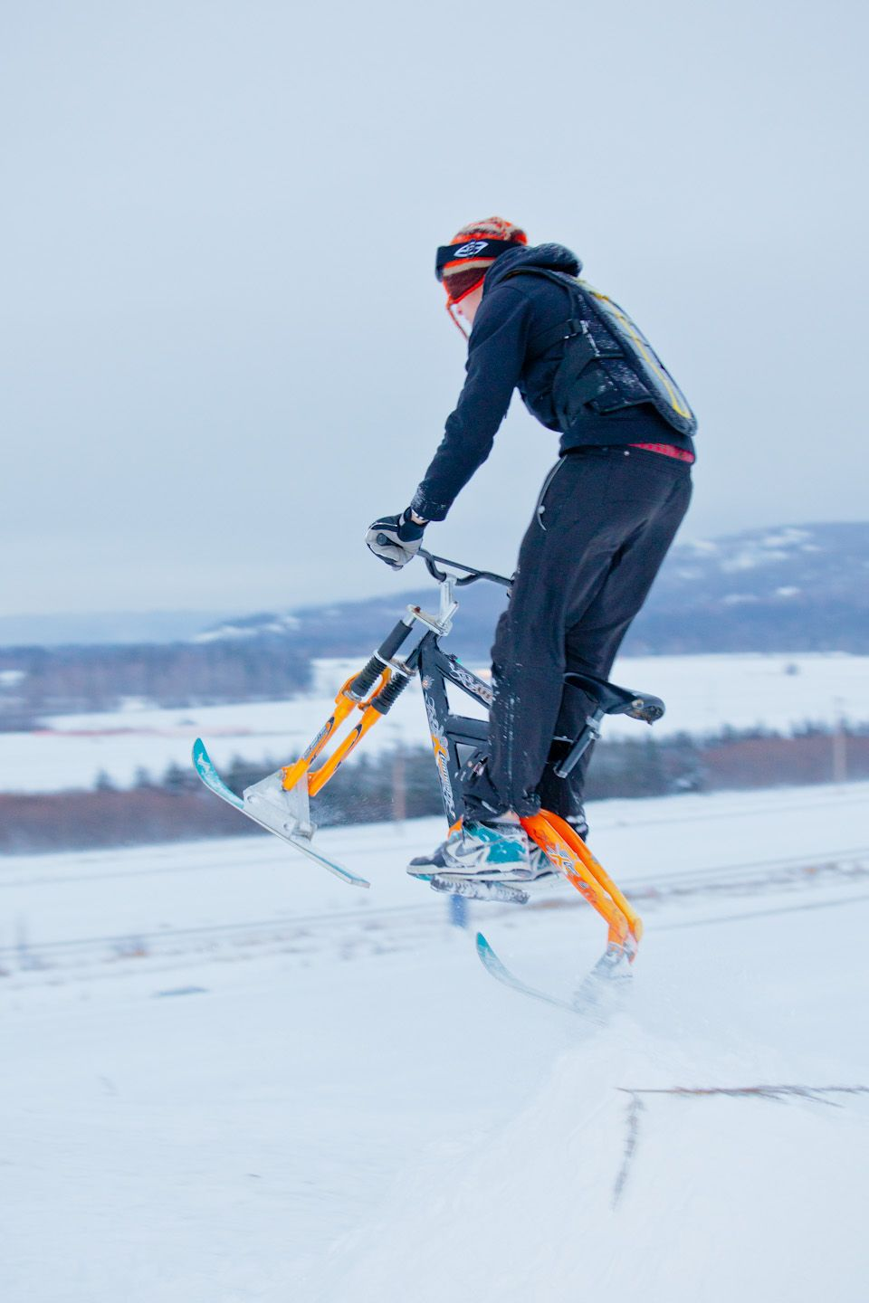 Ski Bike How Fun Does This Look Velo Ski Velo Vtt