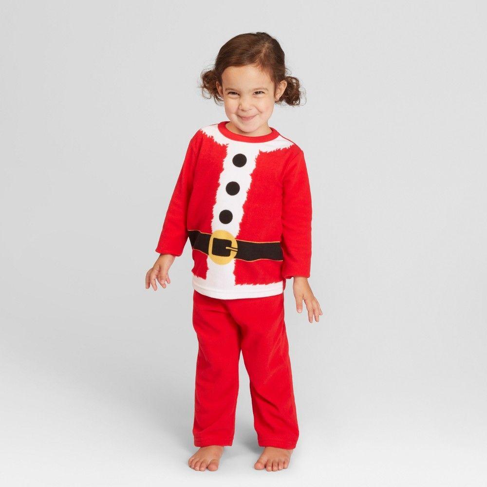 bb4f1b011 Toddler Holiday Santa Pajama Set - Wondershop Red 18M