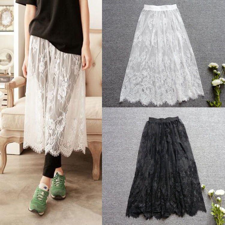 6b2e95b71f7 Women S Single Lace Skirt Extender Half Slip For Dress Lengthening Us Xxs-Xl