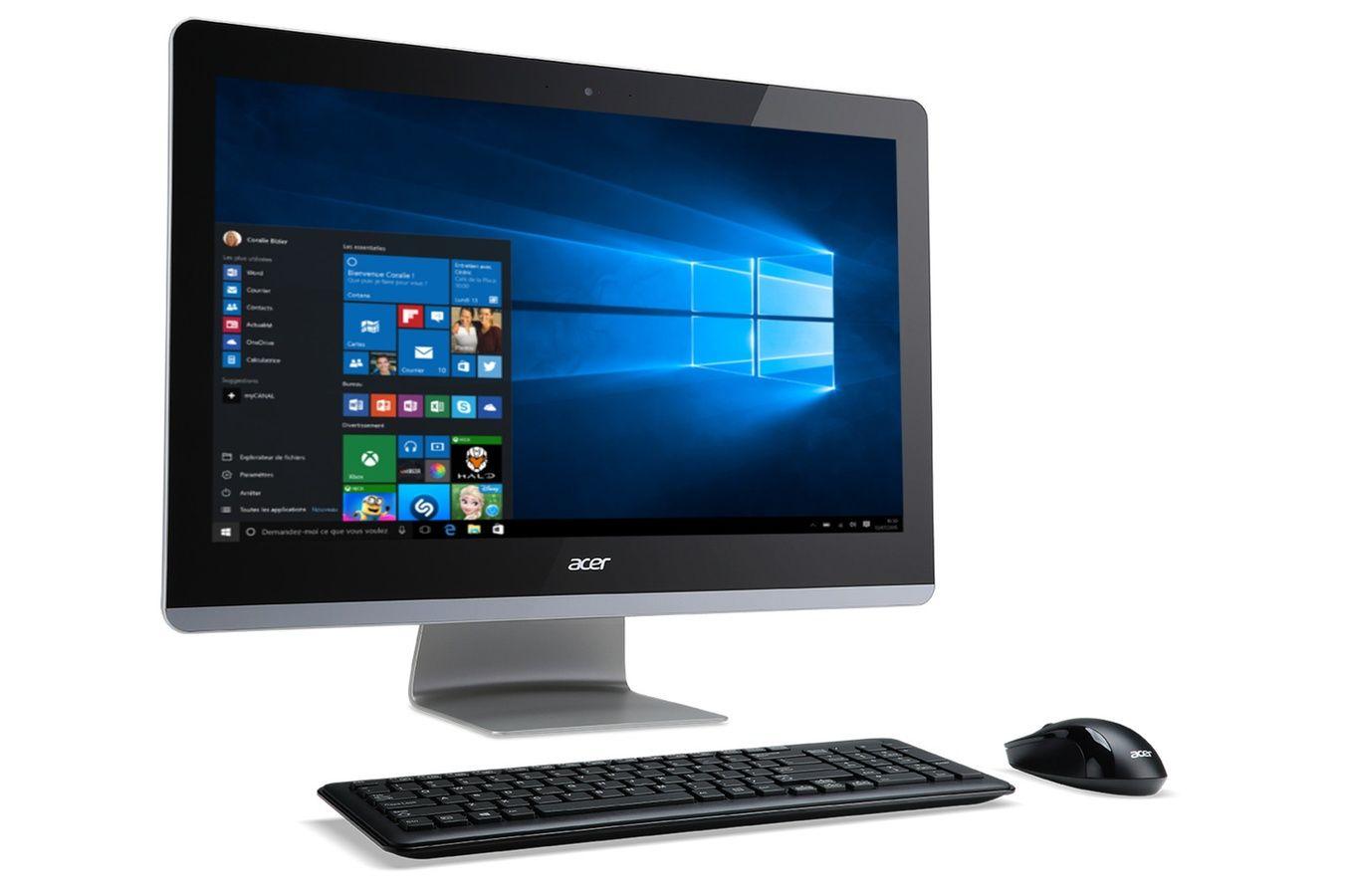 pc de bureau acer aspire z3 715 01 ordinateur pas cher. Black Bedroom Furniture Sets. Home Design Ideas