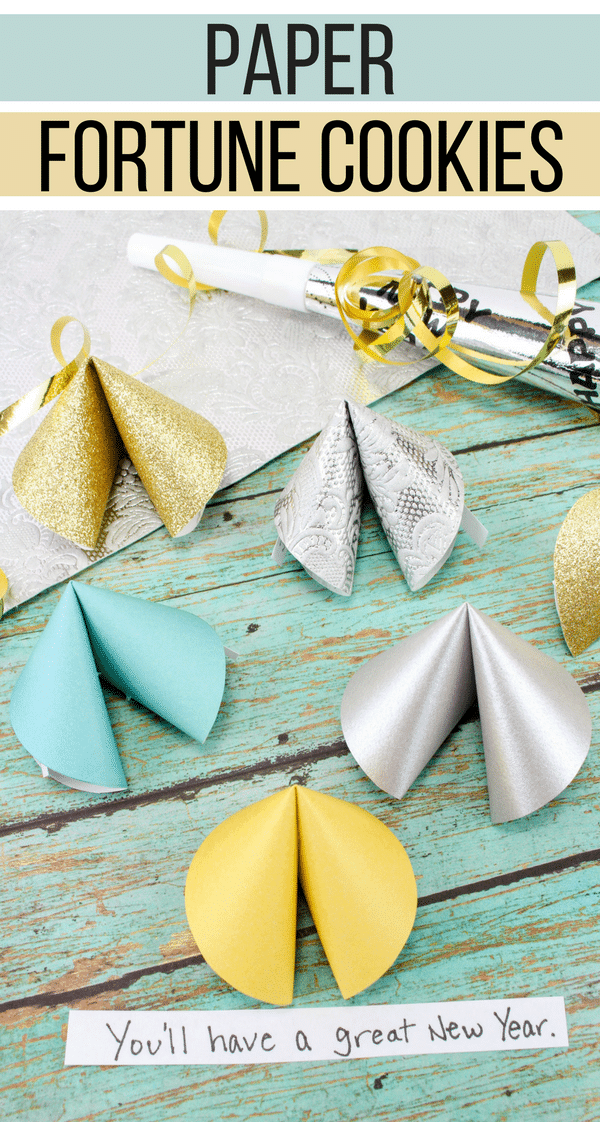 New Year's Eve Fun Paper Fortune Cookies Craft New year