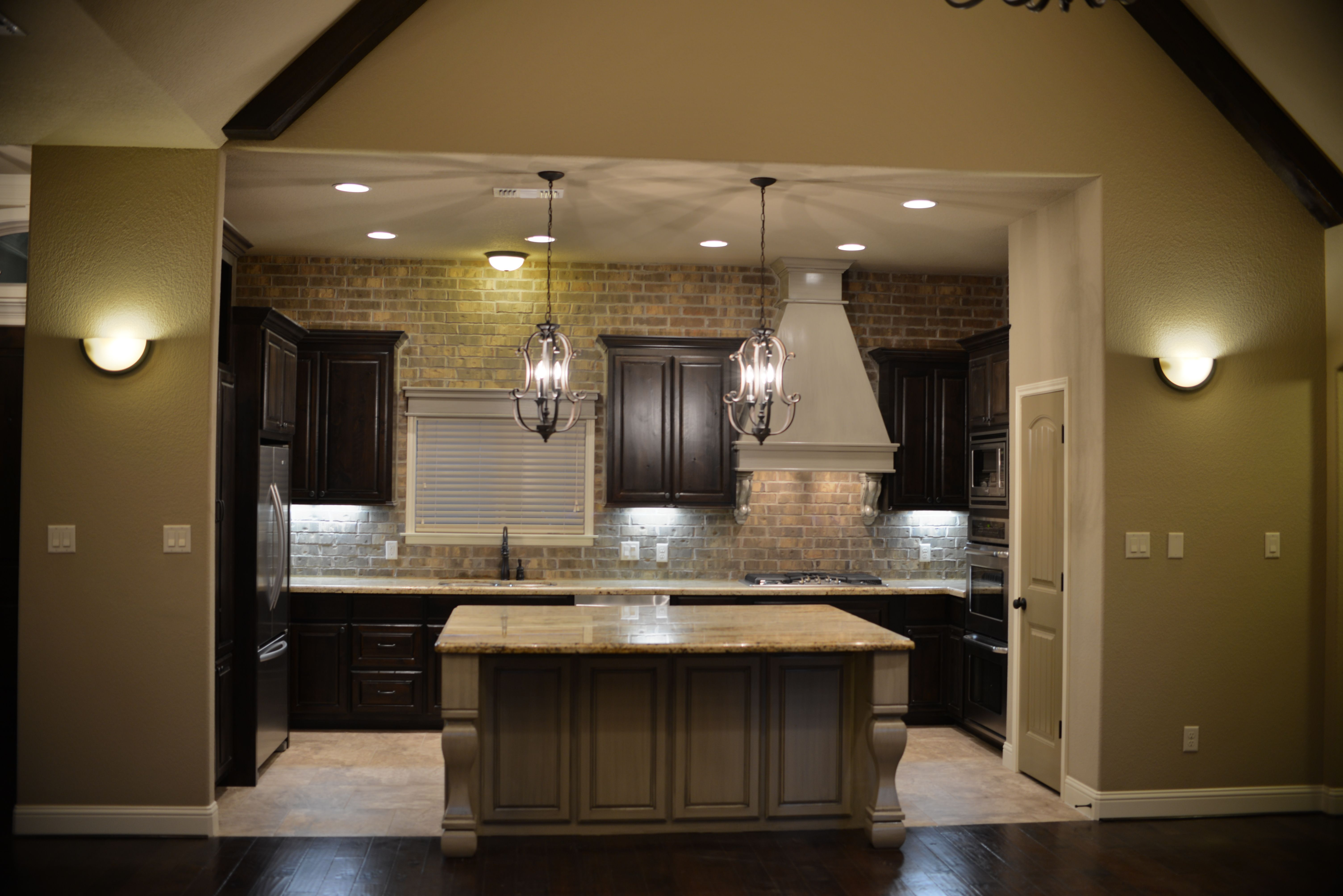 Stunning kitchen with gorgeous oversized island and ...
