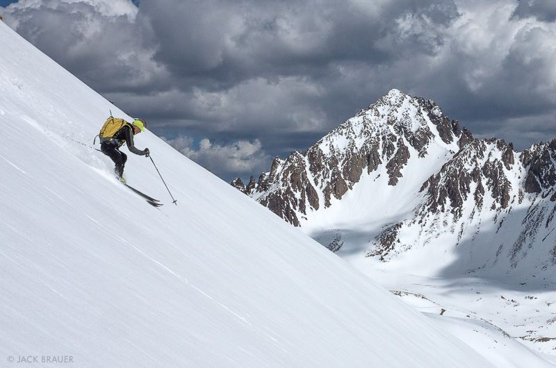 Colorado, San Juan Mountains, Sneffels Range, skiing