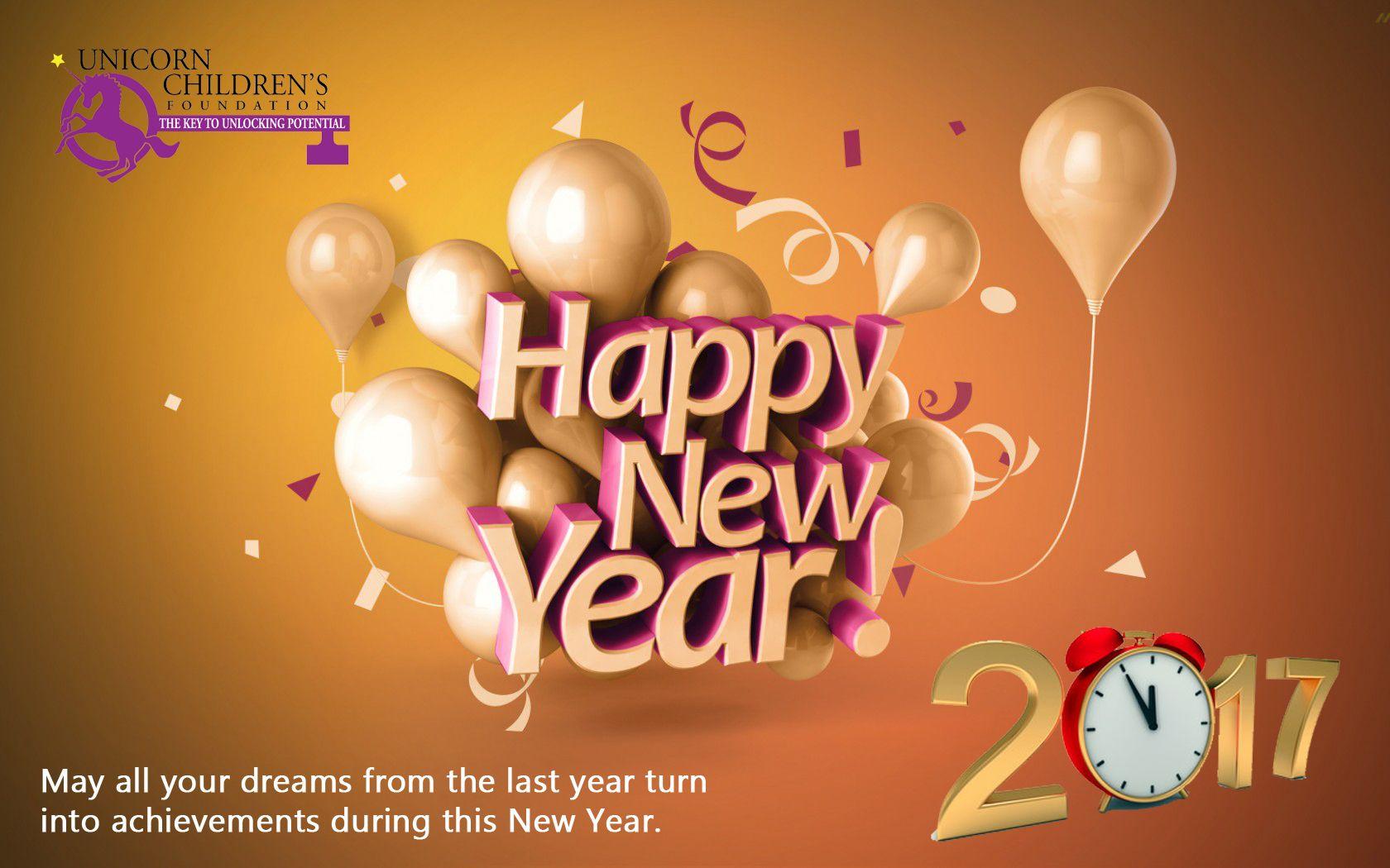 Happy New Year From Unicorn Childrens Foundation Unicorn