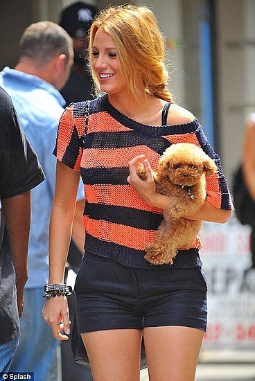 Blake Lively's Lucky Charm: Penny!....Wherever the Gossip Girl goes, her  teacup Maltipoo follows
