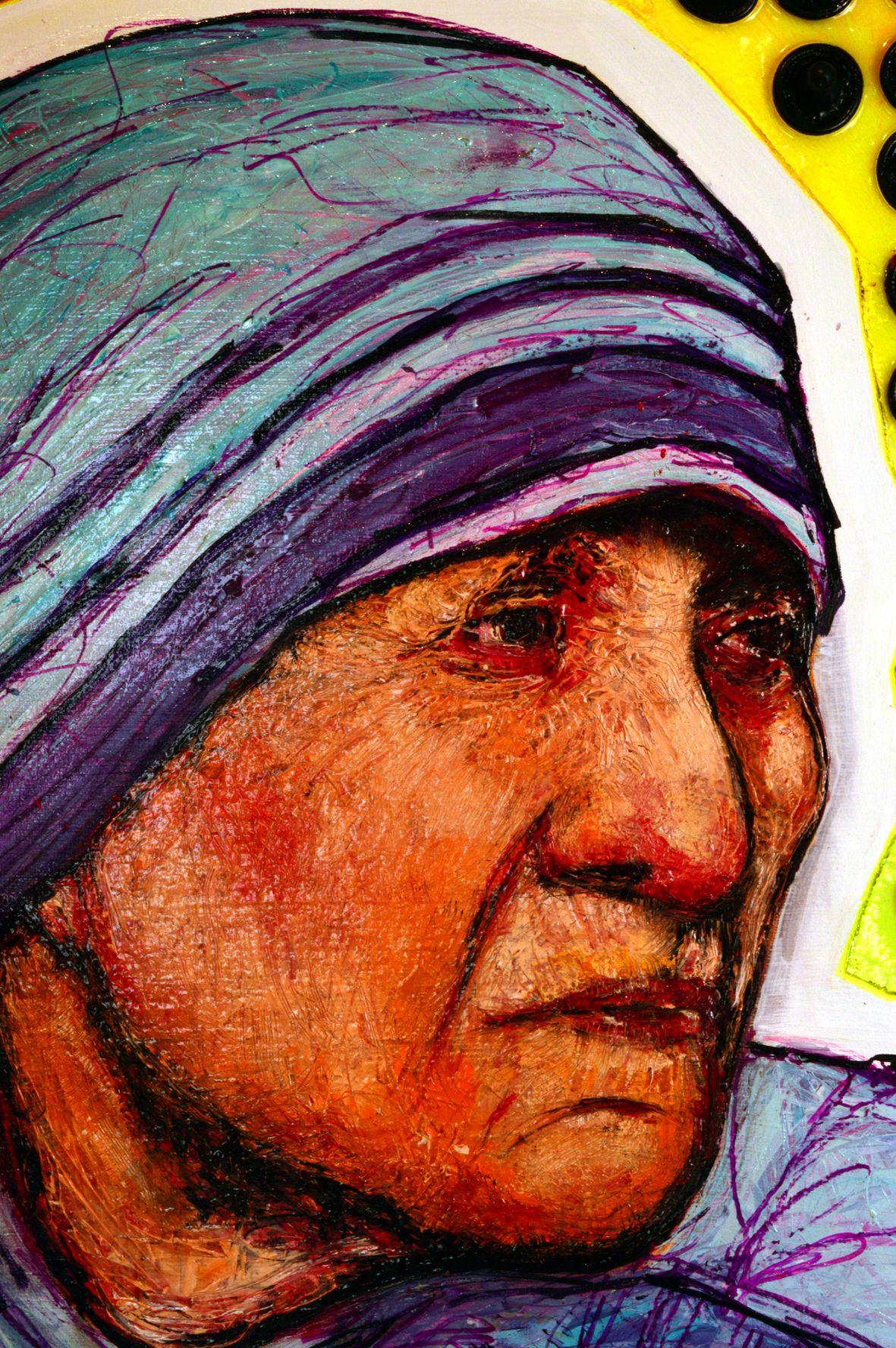 Madre Teresa Di Calcutta Neo Super Pop Art Francesco Dellaluce
