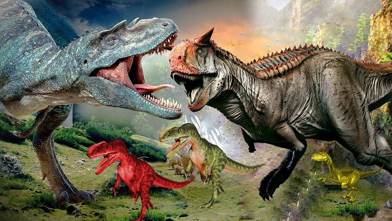 Dinosaurs Vs TRex Movie 3D Dinosaurs Cartoons For
