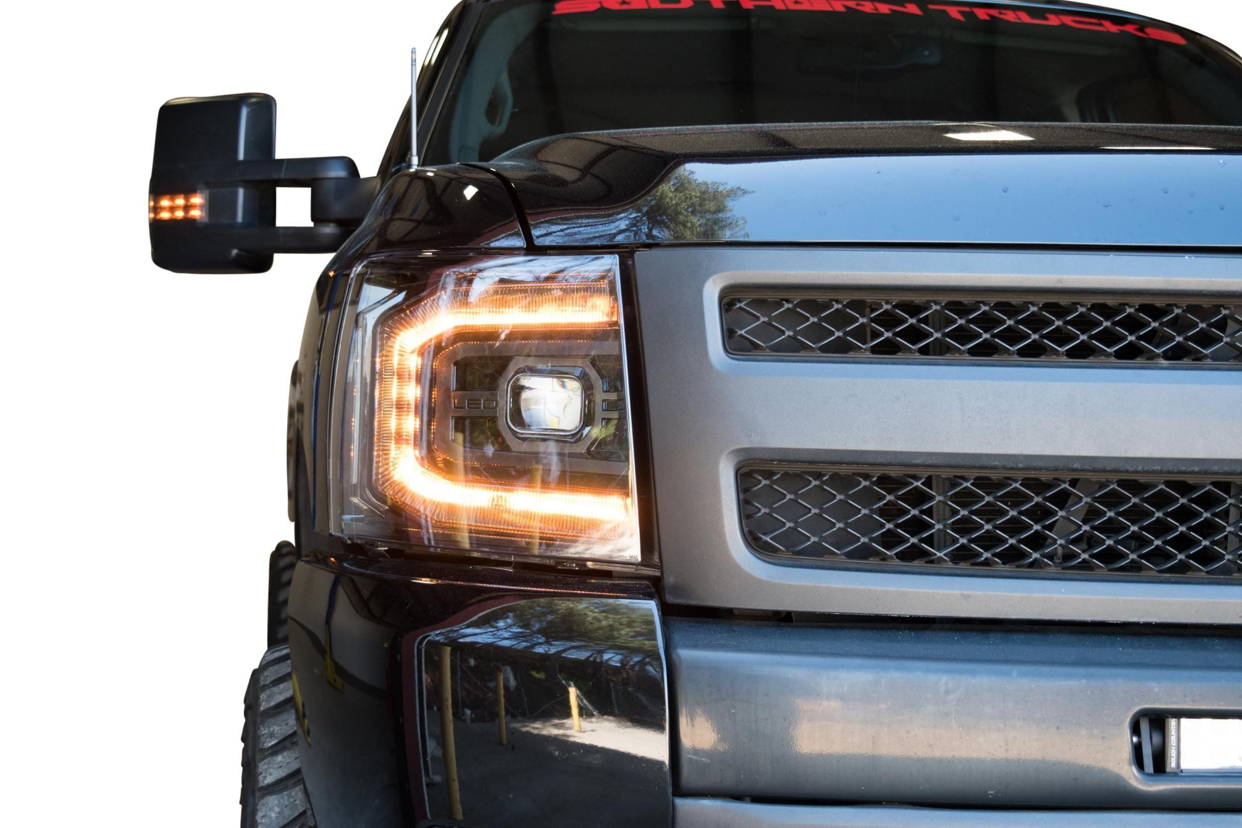 2007 2013 Chevrolet Silverado Xb Led Projector Headlights Complete Led Housings From The Retrofit Source In 2020 Chevrolet Silverado Led Headlights Chevrolet