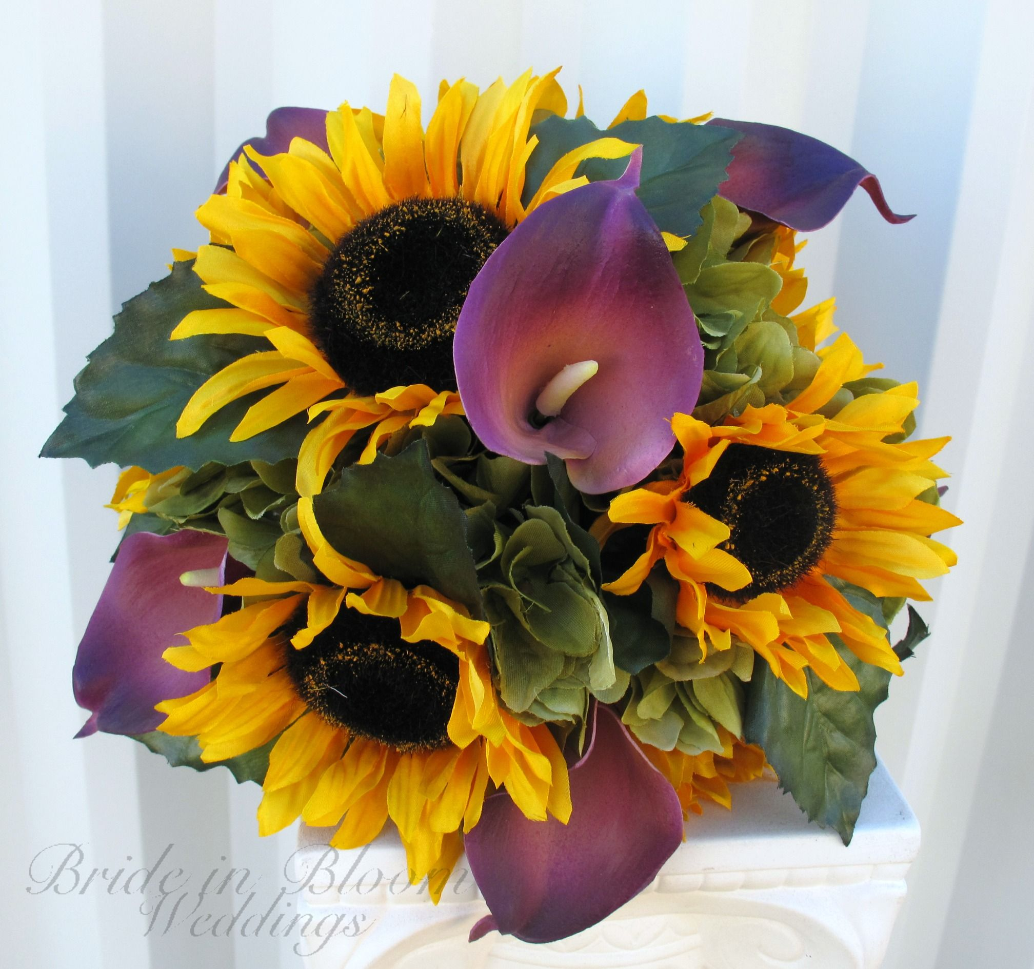 Bridal bouquet sunflower purple calla lily silk wedding flowers bridal bouquet sunflower purple calla lily silk wedding flowers izmirmasajfo