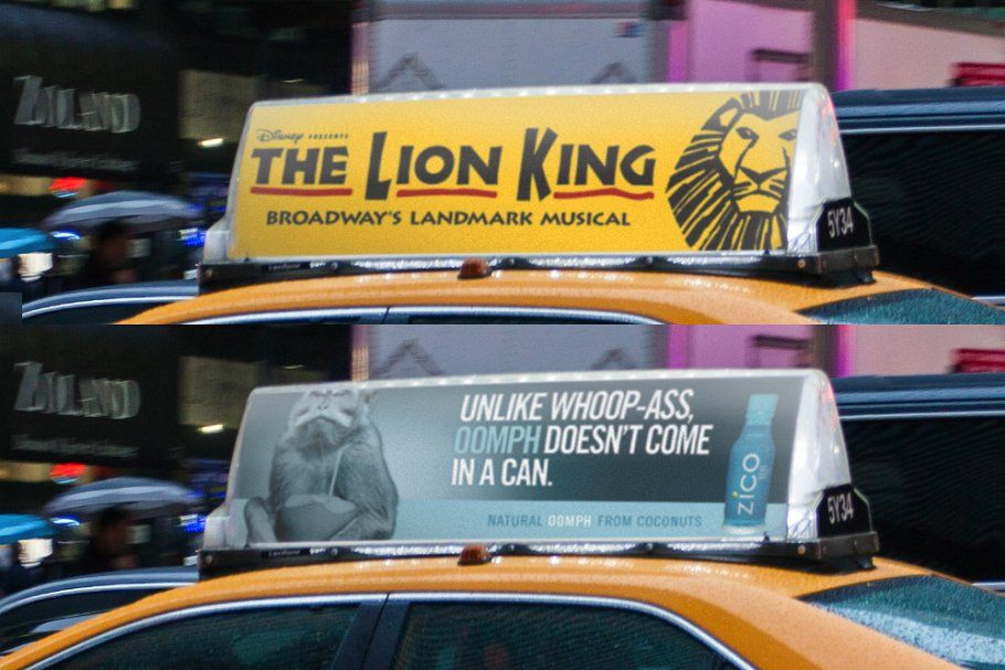2x Nyc Taxi Ad Mock Ups Mocking Nyc Mockup