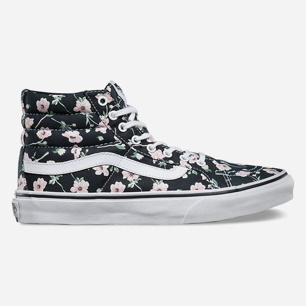16aa1737affcfd Vans Vintage Floral Sk8-Hi Slim Womens Shoes ( 60) ❤ liked on Polyvore  featuring shoes