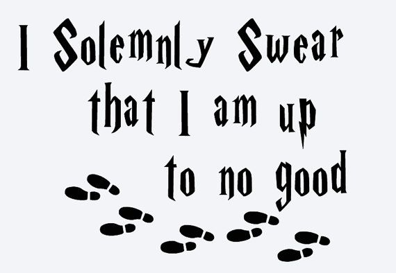 Harry Potter I Solemnly Swear That I Am Up To No Good Disney Iron On Deal Vinyl Decal Decal Harry Potter Clip Art Harry Potter Decal Harry Potter Free