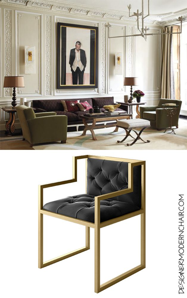 The Bradley Modern chair is a contemporary masterpiece for your space. Tailored our chairs to your style; you select the frame color (Gold, Silver, Gloss White or Gloss Black) and you choose the seat material Black Velvet. We handcraft your luxurious chair in our studio in Los Angeles.