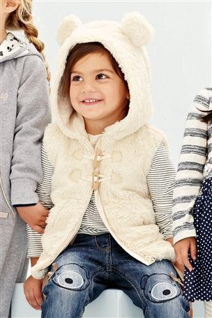 Sliczna Misiowa Kamizelka Uszy Futerko Next12 3971412532 Oficjalne Archiwum Allegro Winter Hats Fashion Winter
