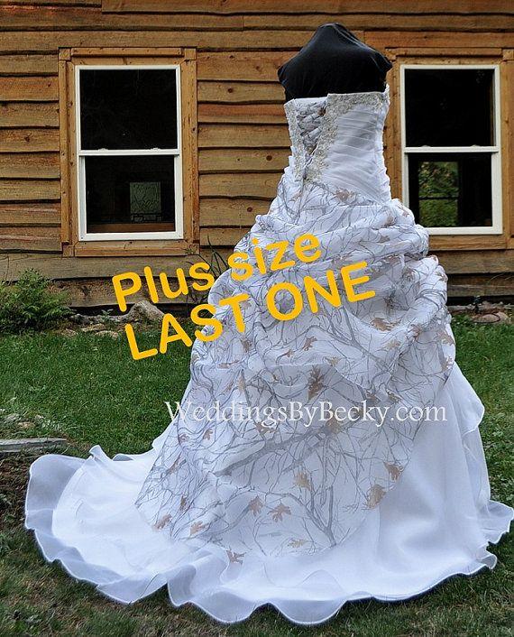 c765a325874 NEW Camo Wedding Gown Truetimber snow-LAST ONE- Plus size 22 24 ...