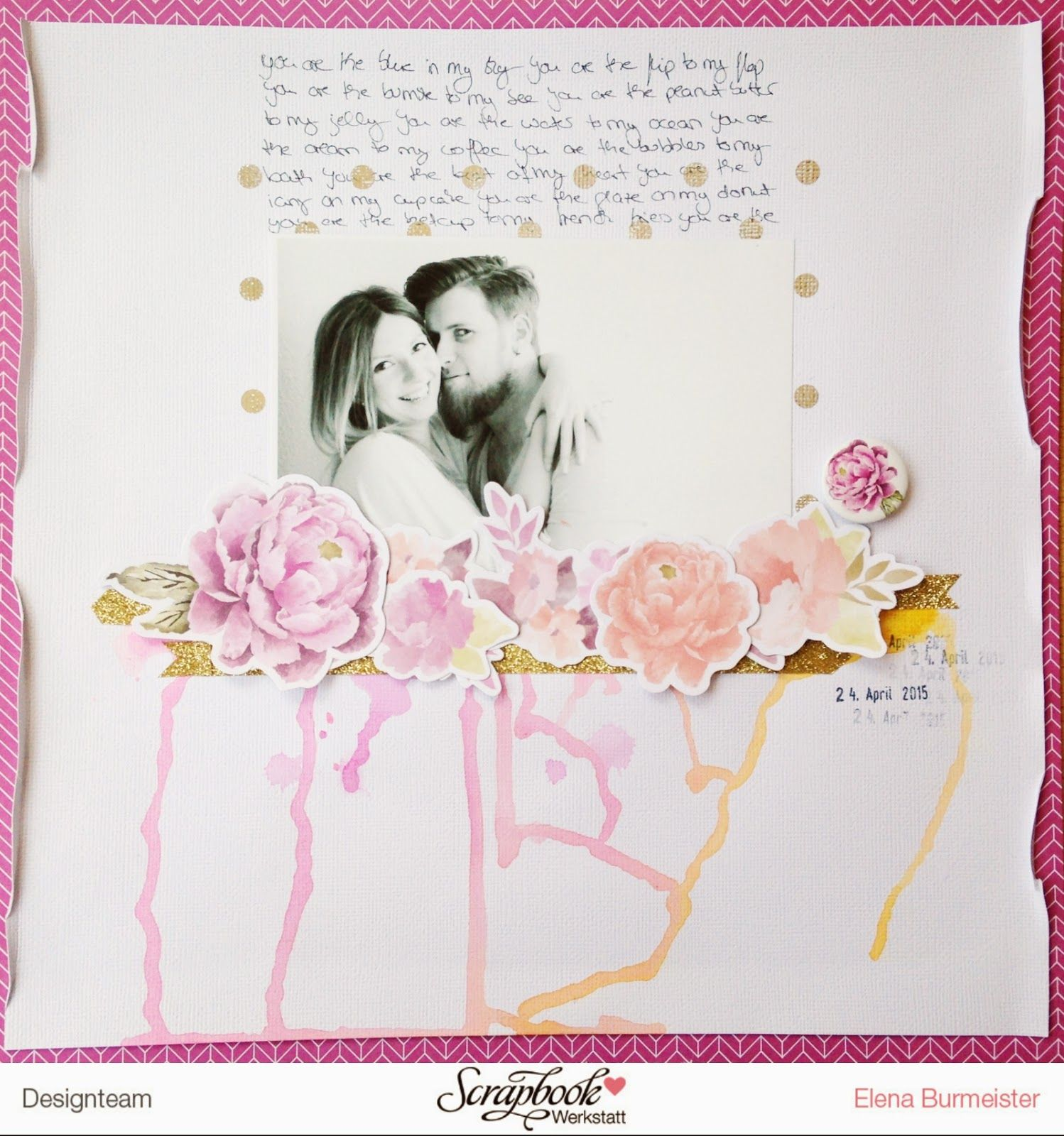 Add Glitter And Love: Scrapbook Layout #22