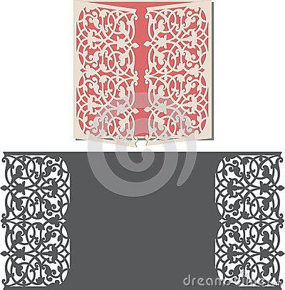 Laser Cut Invitation Card LaserCut Pattern For Invitation