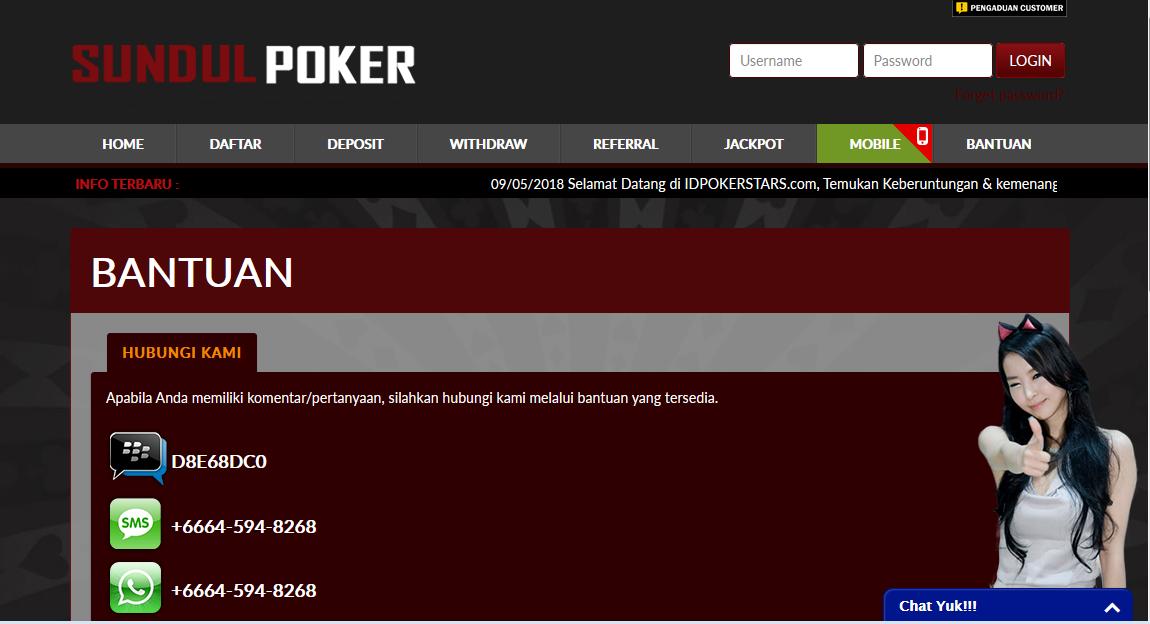 Untuk dapat mengikuti permainan poker online anda dapat