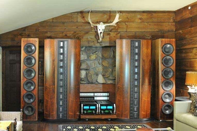 Infinity IRS Series V speakers & McIntosh Audio room