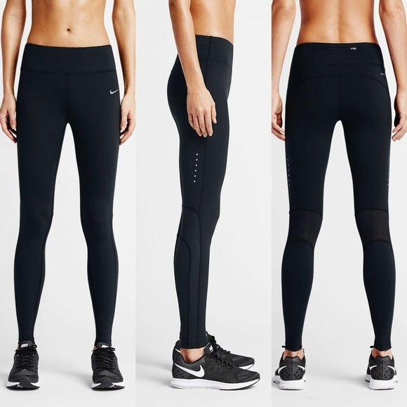 24055eb91ca1 Nike Epic Lux Sheer Panel Leggings •The Nike Epic Lux Women s Running Tights  support your stride with a tight