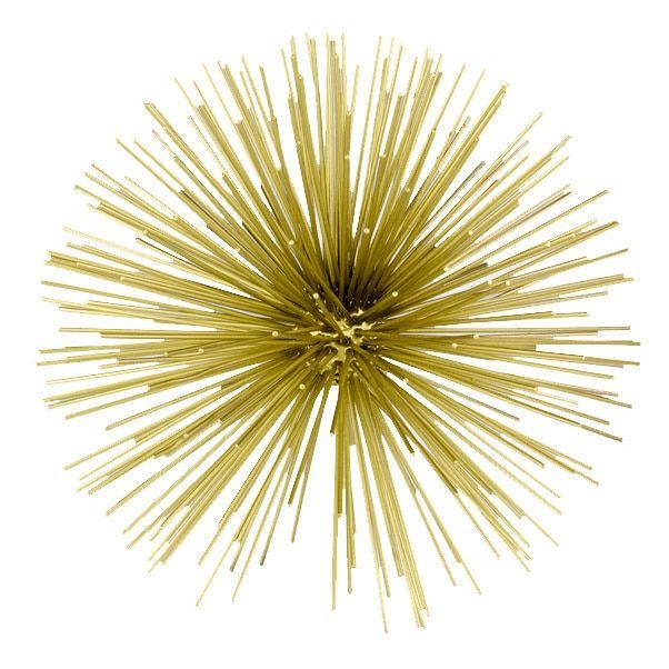 Accents Erizo Gold Large Spiked Sphere Wall Decor (Gold) (Iron ...