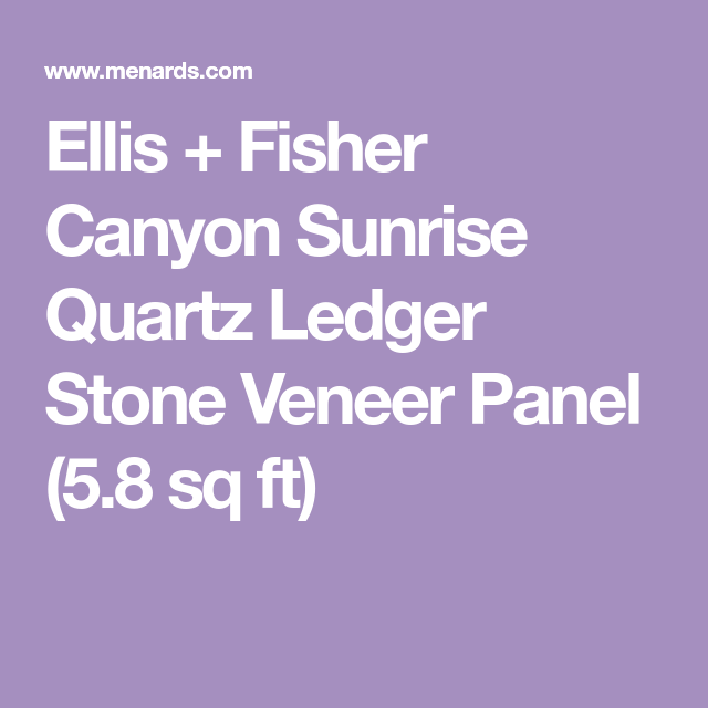 Ellis Fisher Canyon Sunrise Quartz Ledger Stone Veneer Panel