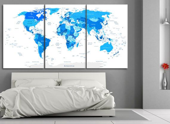 Large blue world map with country names travel map push pin travel large blue world map with country names gumiabroncs Image collections
