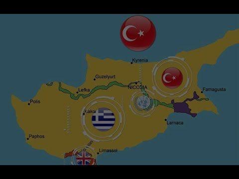 قبرص الموزعة بين شعبين تتنازعها السياسة والجغرافية والتاريخ من تركيا Famagusta Larnaca Paphos