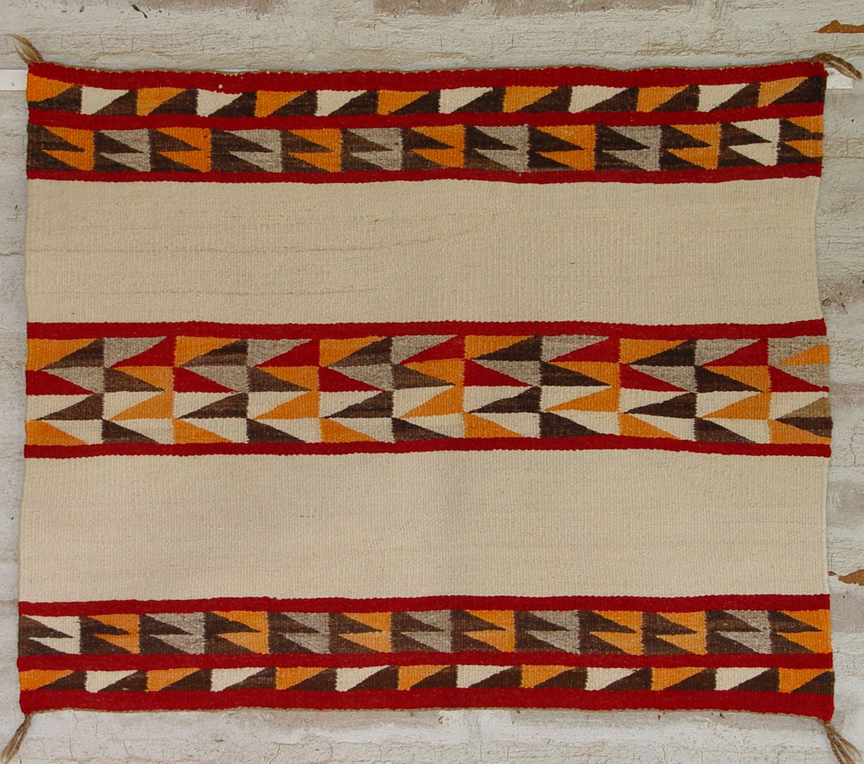 1940 Single Saddle Blanket Navajo Weaving Navajo Weaving