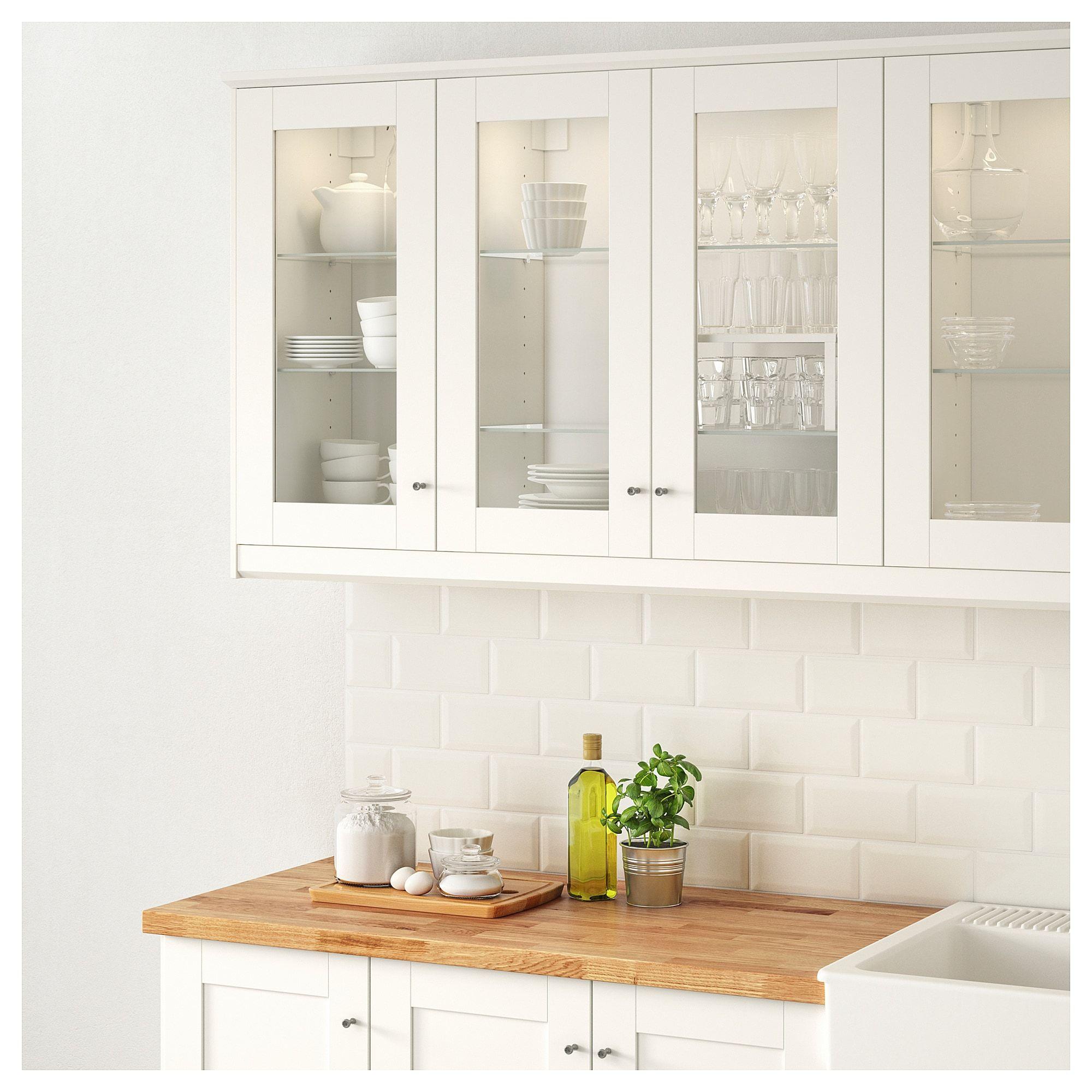 Küchenschränke um kühlschrank sÄvedal vitrinedør hvit  kitchen  pinterest  neue wohnung ikea