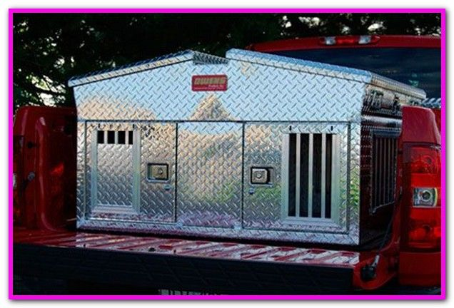 Pickup Truck Bed Dog Kennel Crates Designed Specifically For Use In A Truck Bed Help To Provide A Little Diamond Dela Dog Box Dog Travel Crate Hunting Dogs