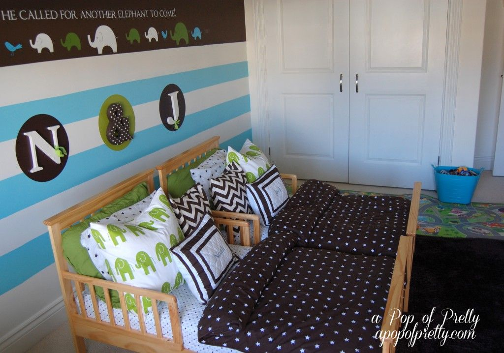 Room Makeover Twin Boy Nursery To Toddler Room Without Changing Everything Toddler Room Decor Nursery To Toddler Room Twin Boys Nursery