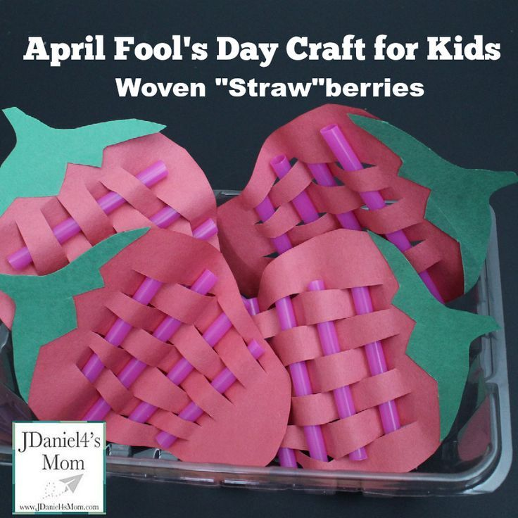 April Fools Day Craft For Kids Woven Strawberries Yep They