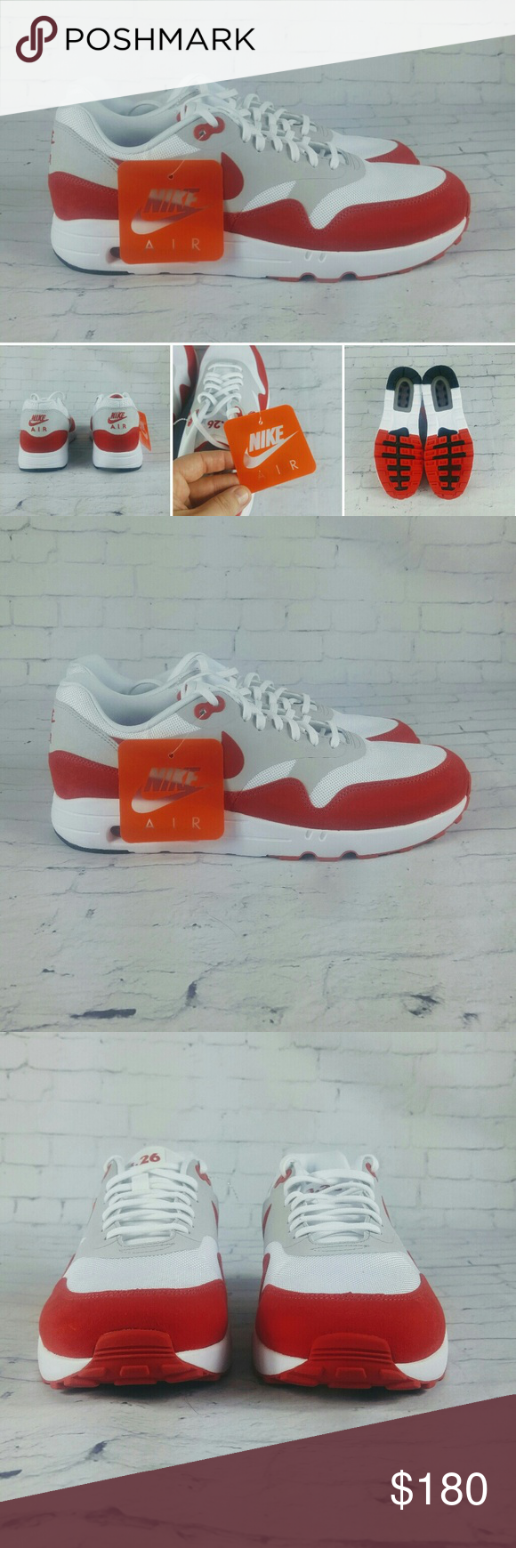 0d155b07e6 New Nike Air Max 1 Ultra 2.0 LE White Red 3.26 You are buying Brand New