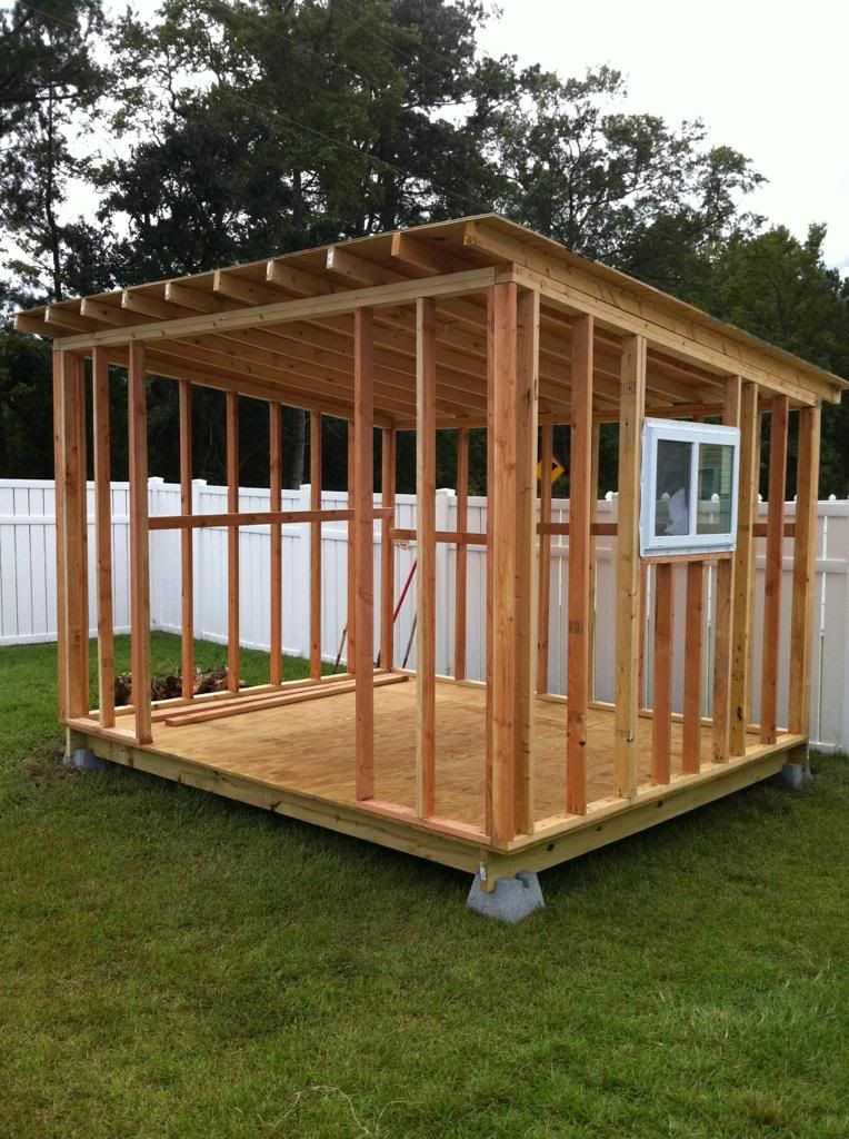 How to build a storage shed for more free shed plans here for How to build a sloped roof shed