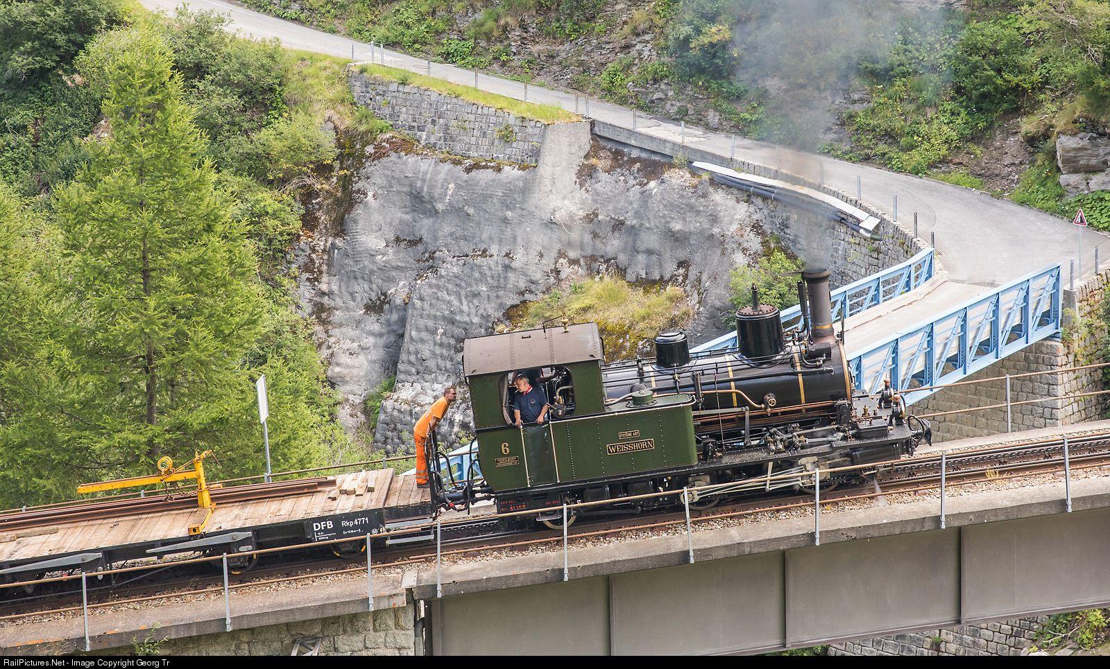 6 Dampfbahn Furka Bergstrecke HG 2/3 at Realp, Switzerland ...