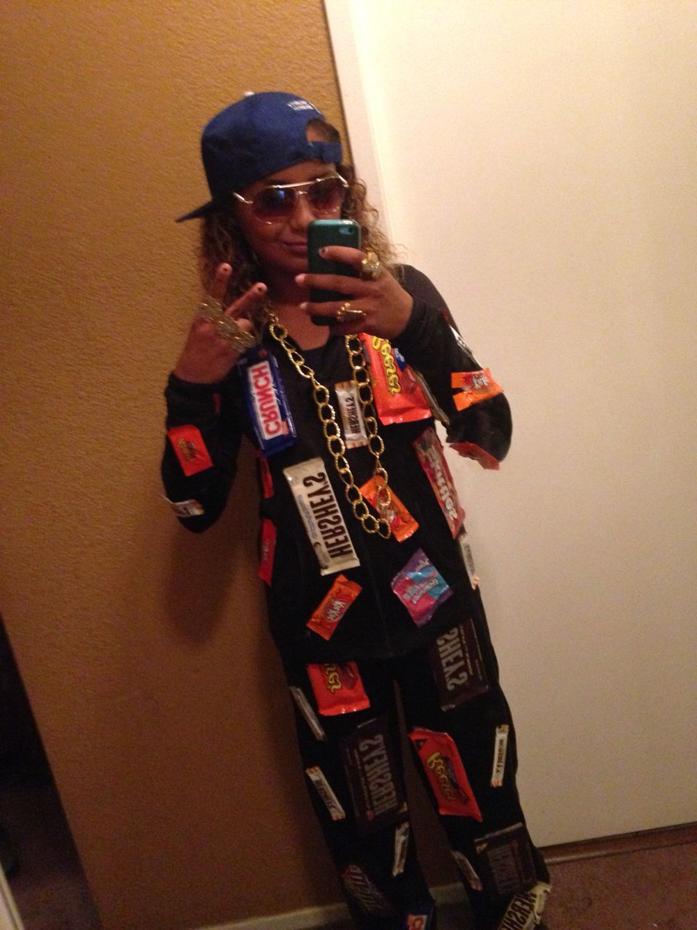 """gizelle's costume """"candy rapper""""  fall celebrations"""